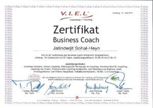 Business Coach Zertifikat-001